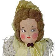 "14"" Ethnic Stockinette Girl Doll ~ 1940s ~ German, Swiss"