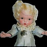 Nancy Ann Storybook Pudgy JL Molded Socks Bisque LITTLE BOY BLUE ~ Gold Sticker