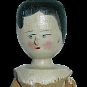 """Vintage Peg Wooden Doll ~ 12"""" Primitive Folk Wood Doll"""