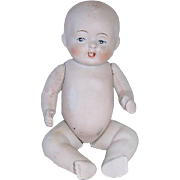 """Large 6 1/2"""" All Bisque Made in Japan BABY DOLL"""