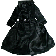 Vintage Barbie 1963 BLACK SATIN Pak Coat