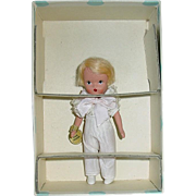 Vintage Nancy Ann Storybook Doll ~ #84 Hard Plastic Ring Bearer MIB W/Tag