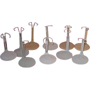 Ten Tiny DOLL STANDS Fit Miniatures and Nancy Ann Storybook Dolls