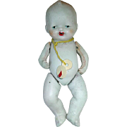"All Bisque 5"" Made in Japan BABY DOLL With Pacifier"