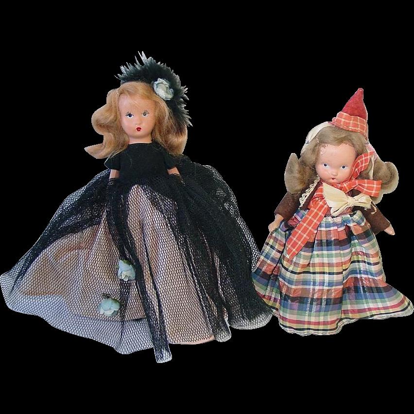 TWO Vintage K & H Kerr & Heinz Doll ~ Nancy Ann Type Dolls