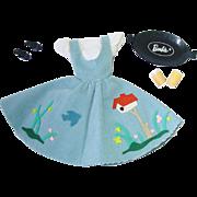 Vintage Barbie Fashion #979 Friday Night Date ~ Beautiful Dress w/ Accessories