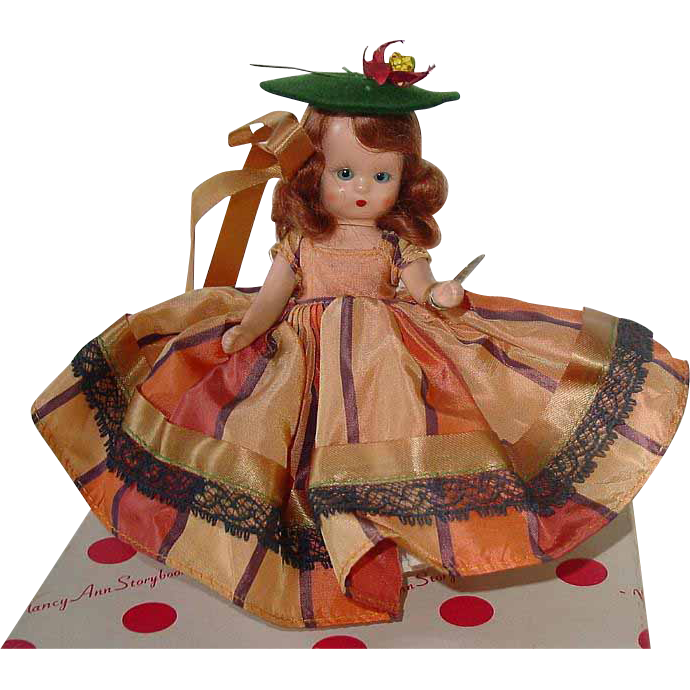 Nancy Ann Storybook Sleep Eye Plastic Doll ~ Dolls of the Month #92 AUTUMN ~ MIB