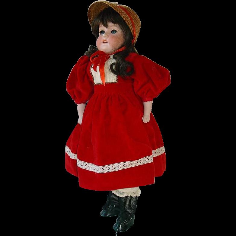 """Antique German Bisque Doll Kid Body 20"""" ARMAND MARSEILLE #370"""