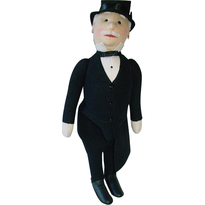 "18"" Steiff Replica Doll 1986 Gentleman in Morning Coat ~ MIB"