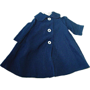 Vintage 1950s Original Alexander LISSY ~ Navy Blue Swing Coat ~ Tagged
