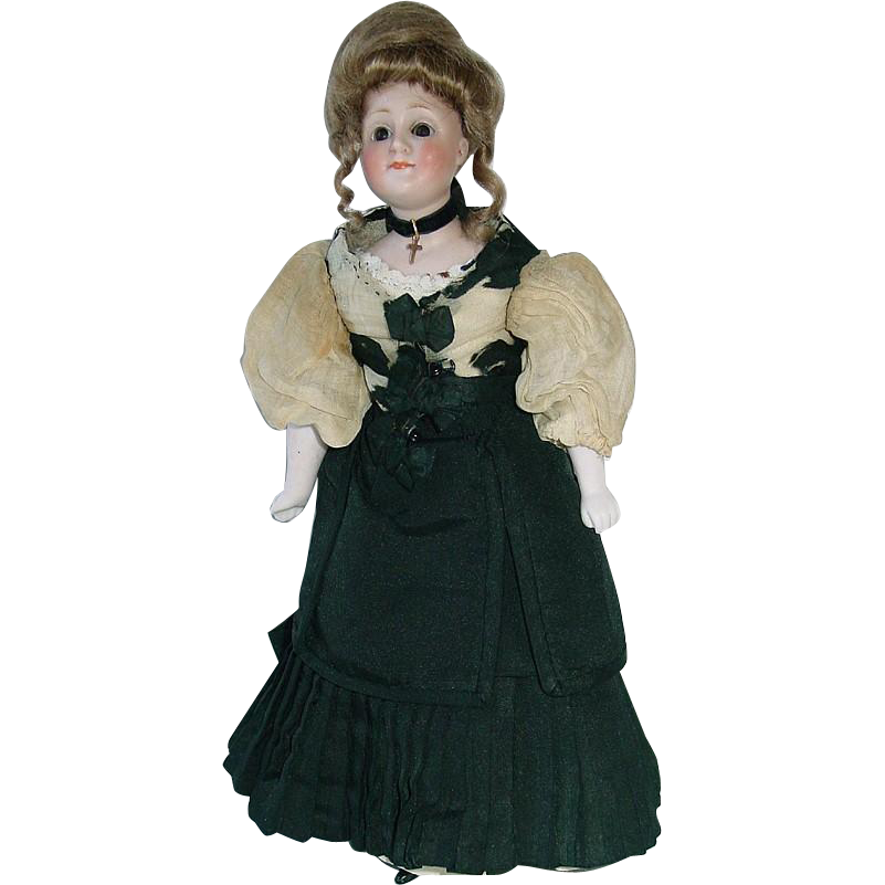 "Antique 11"" Kestner Gibson Girl #172 Lady Doll ~ All Original"