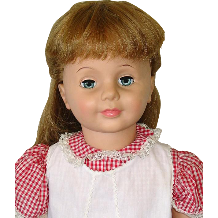 "Vintage Ideal Patti PlayPal Doll 35"" Strawberry Blonde All Original"
