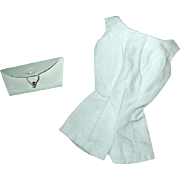 Vintage Barbie Pak White Playsuit and White Clutch Purse