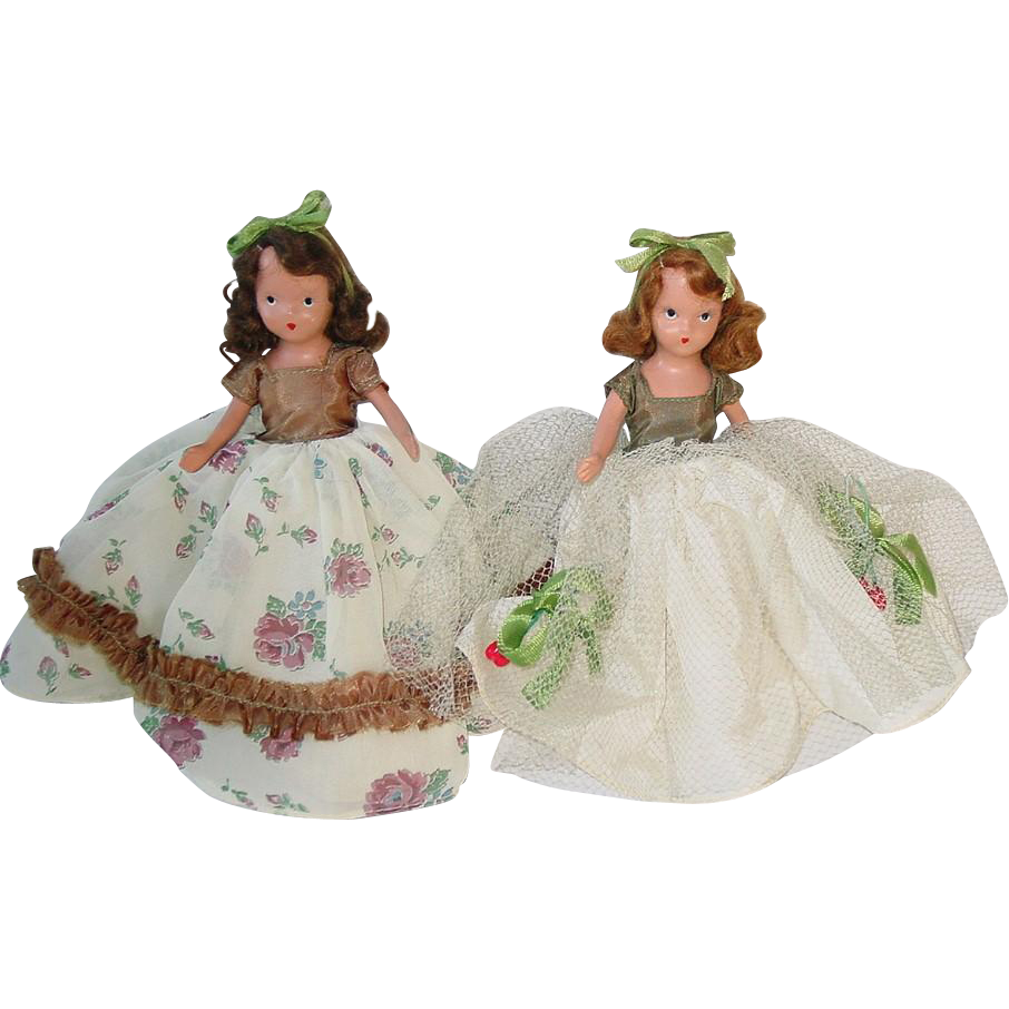 Two Bisque Nancy Ann Storybook Dolls ~ #197 November and #198 December