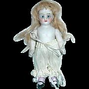 "Antique German 4 1/2"" All Bisque Doll #540/2 Simon Halbig Bisque Mignonette"