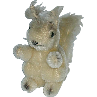 """Vintage Steiff Possy Squirrel ~ Small 4"""" Mohair"""