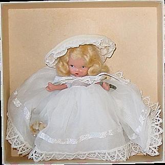 Nancy Ann Storybook Pudgy JL #186 Child That Was Born on the Sabbath ~ Sunday Doll