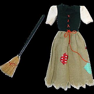 Vintage Barbie Fashion #0872 Barbie Cinderella Poor Dress & Broom