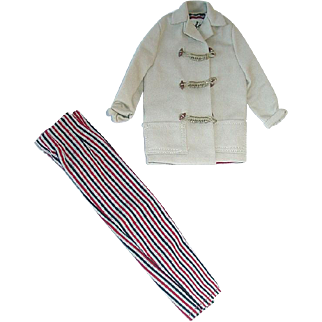 Vintage Barbie Fashion ~ #985 Open Road Jacket and Slacks W/All Toggles