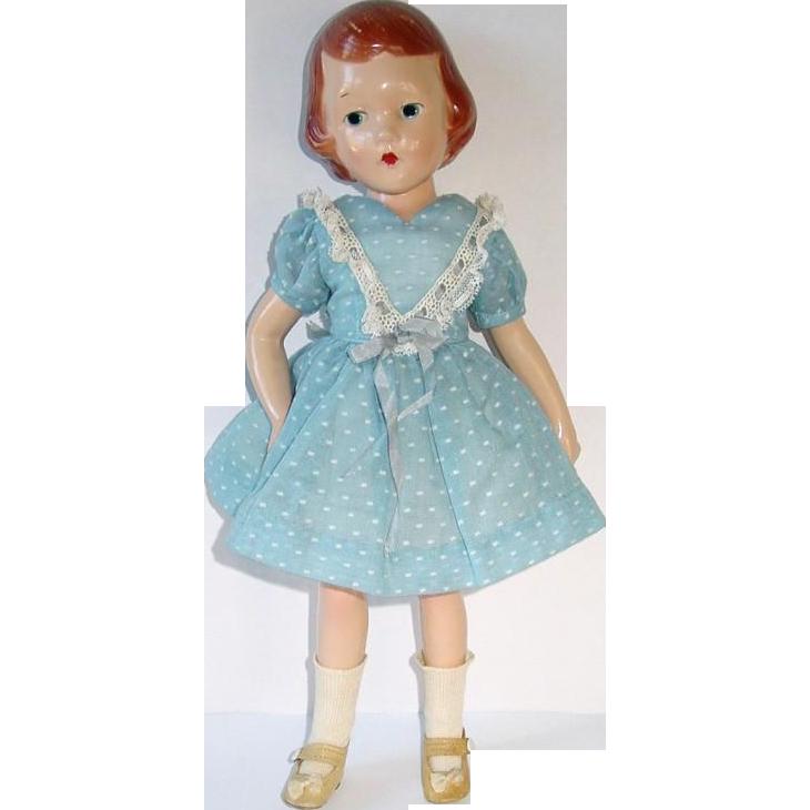 "Vintage 13"" Molded Hair WENDY ANN By Madame Alexander ~ Twist N Turn Waist"