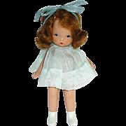 Nancy Ann Storybook ~ Pudgy Tummy White Boots ~ Margie Ann in Blue