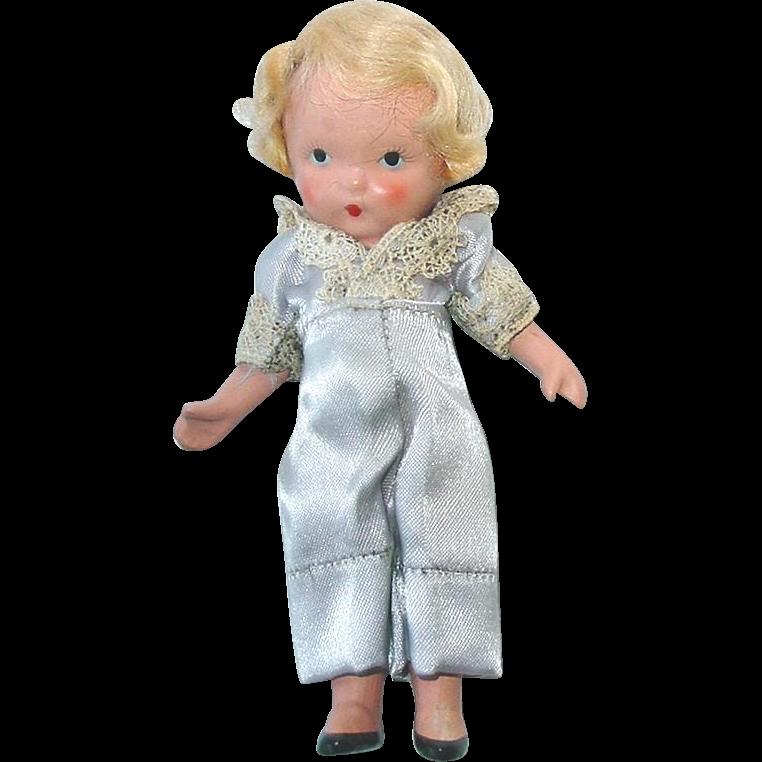 Nancy Ann Storybook Doll ~ #115 Little Boy Blue ~ JL, PUDGY MOLDED SOCK