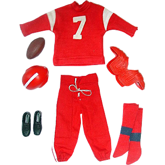 Vintage Ken Outfit ~ #799 TOUCH DOWN ~ NMint/Complete