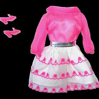 Vintage MOD Era Barbie Fashion ~ #1868  Happy Go Pink