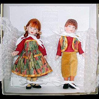 "Robert Tonner Dolls 8"" Porcelain Hansel and Gretel Set MIB Ltd. Ed. 250"