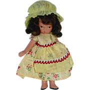 Nancy Ann Storybook ~ #118 LITTLE MISS MUFFET ~ Jointed Leg in Yellow