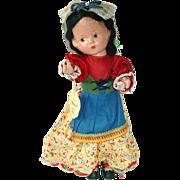 "Vintage 1939 Worlds Fair 13"" Composition International Italian Girl Doll MARIA"
