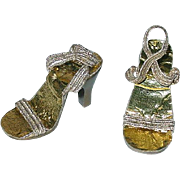 "Vintage Madame Alexander 20"" Cissy Gold Heels"
