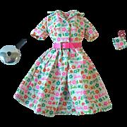 Vintage Barbie Fashion ~ #1634 Barbie Learns to Cook ~ Dress, Pot Holder & Pot