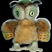 """Vintage 1950s Steiff 4"""" Mohair WITTIE Owl"""