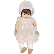"Large 28"" Chunky EFFANBEE Composition Mama Doll ~ Orig. Dress"
