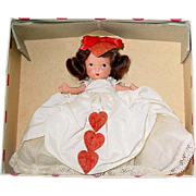 Nancy Ann Storybook Doll ~ Pudgy Tummy JL ~ #157 QUEEN OF HEARTS ~ Valentine