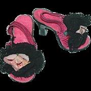 "Vintage Madame Alexander 20"" Cissy Boudoir Heels W/Roses"