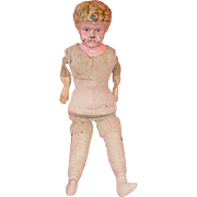 """16"""" Blonde Tin Head Doll ~ Body Can Be Used For Paper Mache Doll Head"""