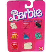1984 Barbie Fashion Extras ~ SHOE PAK ~ Mint on Card