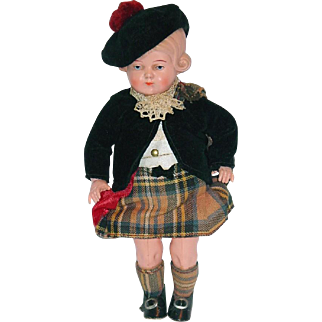 """Outstanding 8"""" Celluloid Turtle Mark ~ German Doll ~ All Original"""