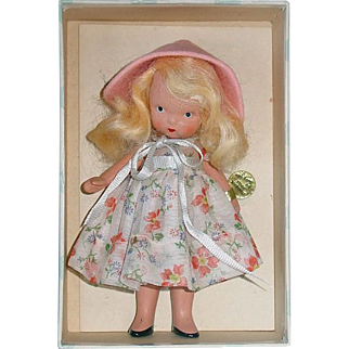 Nancy Ann Storybook ~ #130 DAINTY DOLLY ~ Bisque, Jointed Leg ~ W/Box