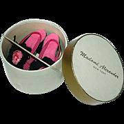 Vintage Alexander White and Gold Hatbox W/ Cissy Boudoir Heels