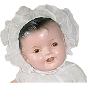 """Vintage Large 25"""" Brunette Composition Baby Doll"""