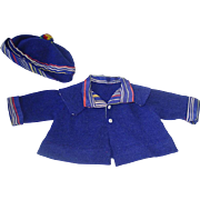 Vintage Wool PATSY or Shirley Temple Doll ~ Jacket & Matching Hat