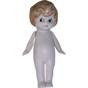 "Antique German 6"" KEWPIE Style ~ All Bisque Doll"