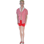 Vintage Ken Doll ~ Painted Blonde Hair in Original Outfit