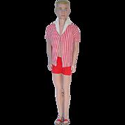 Vintage Ken Doll ~ Painted Blonde Hair in Original Outfit