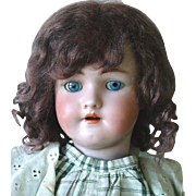 "21"" German Bisque ~ Simon Halbig ~ Heinrich Handwerck Doll ~ Hairline"