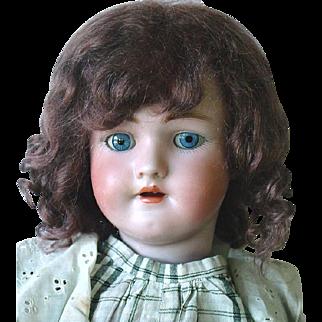 """21"""" German Bisque ~ Simon Halbig ~ Heinrich Handwerck Doll ~ Hairline"""
