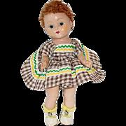Vogue 1953 Strung Ginny Doll ~ Tina #29 Kindergarten School Series ~ Auburn Poodle Wig